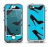 The Blue & Black High-Heel Pattern V12 Apple iPhone 5-5s LifeProof Nuud Case Skin Set