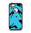 The Blue & Black High-Heel Pattern V12 Apple iPhone 5-5s Otterbox Defender Case Skin Set