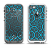 The Blue & Black Spirals Pattern Apple iPhone 5-5s LifeProof Fre Case Skin Set