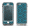 The Blue & Black Spirals Pattern Apple iPhone 5-5s LifeProof Nuud Case Skin Set