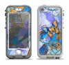 The Blue Bright Watercolor Butter-Floral Apple iPhone 5-5s LifeProof Nuud Case Skin Set