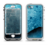 The Blue Broken Concrete Apple iPhone 5-5s LifeProof Nuud Case Skin Set