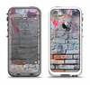 The Blue Chipped Graffiti Wall Apple iPhone 5-5s LifeProof Fre Case Skin Set