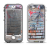 The Blue Chipped Graffiti Wall Apple iPhone 5-5s LifeProof Nuud Case Skin Set