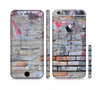 The Blue Chipped Graffiti Wall Sectioned Skin Series for the Apple iPhone 6/6s