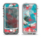 The Blue & Coral Abstract Butterfly Sprout Apple iPhone 5-5s LifeProof Nuud Case Skin Set