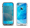 The Blue DIstressed Waves Apple iPhone 5-5s LifeProof Fre Case Skin Set
