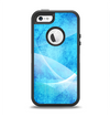 The Blue DIstressed Waves Apple iPhone 5-5s Otterbox Defender Case Skin Set