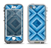 The Blue Diamond Pattern Apple iPhone 5-5s LifeProof Nuud Case Skin Set