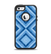 The Blue Diamond Pattern Apple iPhone 5-5s Otterbox Defender Case Skin Set