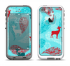 The Blue Fun Colored Deer Vector Apple iPhone 5-5s LifeProof Fre Case Skin Set