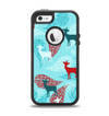 The Blue Fun Colored Deer Vector Apple iPhone 5-5s Otterbox Defender Case Skin Set