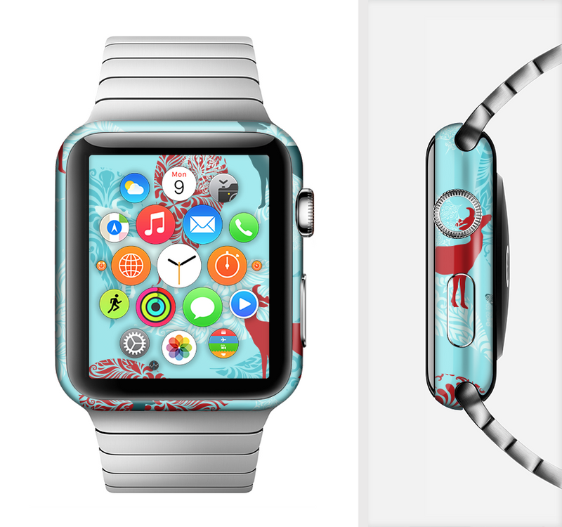 The Blue Fun Colored Deer Vector Full-Body Skin Set for the Apple Watch