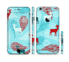 The Blue Fun Colored Deer Vector Sectioned Skin Series for the Apple iPhone 6/6s