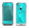 The Blue Geometric Pattern Apple iPhone 5-5s LifeProof Fre Case Skin Set
