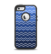 The Blue Gradient Layered Chevron Apple iPhone 5-5s Otterbox Defender Case Skin Set