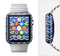 The Blue Gradient Layered Chevron Full-Body Skin Set for the Apple Watch
