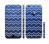 The Blue Gradient Layered Chevron Sectioned Skin Series for the Apple iPhone 6/6s
