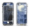 The Blue Grungy Textured Cat Apple iPhone 5-5s LifeProof Nuud Case Skin Set