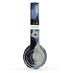 The Blue Grungy Textured Cat Skin Set for the Beats by Dre Solo 2 Wireless Headphones