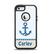 The Blue Highlighted Anchor with Rope Name Script Apple iPhone 5-5s Otterbox Defender Case Skin Set