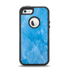 The Blue Ice Surface Apple iPhone 5-5s Otterbox Defender Case Skin Set