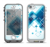 The Blue Levitating Squares Apple iPhone 5-5s LifeProof Nuud Case Skin Set
