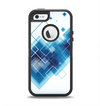 The Blue Levitating Squares Apple iPhone 5-5s Otterbox Defender Case Skin Set