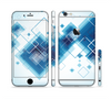 The Blue Levitating Squares Sectioned Skin Series for the Apple iPhone 6/6s