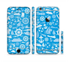 The Blue Nautical Collage Sectioned Skin Series for the Apple iPhone 6/6s