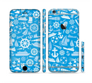 The Blue Nautical Collage Sectioned Skin Series for the Apple iPhone 6/6s Plus