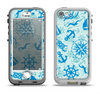 The Blue Nautical Collage V5 Apple iPhone 5-5s LifeProof Nuud Case Skin Set