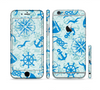 The Blue Nautical Collage V5 Sectioned Skin Series for the Apple iPhone 6/6s