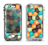 The Blue & Orange Abstract Polka Dots Apple iPhone 5-5s LifeProof Nuud Case Skin Set