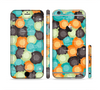 The Blue & Orange Abstract Polka Dots Sectioned Skin Series for the Apple iPhone 6/6s