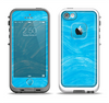 The Blue Painted Brush Texture Apple iPhone 5-5s LifeProof Fre Case Skin Set