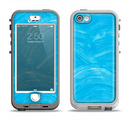 The Blue Painted Brush Texture Apple iPhone 5-5s LifeProof Nuud Case Skin Set