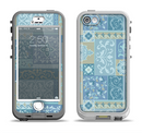 The Blue Patched Paisley Pattern Apple iPhone 5-5s LifeProof Nuud Case Skin Set