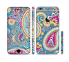 The Blue & Pink Layered Paisley Pattern V3 Sectioned Skin Series for the Apple iPhone 6/6s