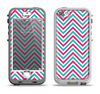 The Blue & Pink Sharp Chevron Pattern Apple iPhone 5-5s LifeProof Nuud Case Skin Set