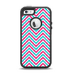 The Blue & Pink Sharp Chevron Pattern Apple iPhone 5-5s Otterbox Defender Case Skin Set