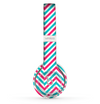 The Blue & Pink Sharp Chevron Pattern Skin Set for the Beats by Dre Solo 2 Wireless Headphones