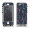 The Blue & Pink Vector Anchor Collage Apple iPhone 5-5s LifeProof Nuud Case Skin Set