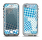 The Blue Plaid Patches Apple iPhone 5-5s LifeProof Nuud Case Skin Set