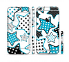 The Blue Polkadotted Vector Stars Sectioned Skin Series for the Apple iPhone 6/6s