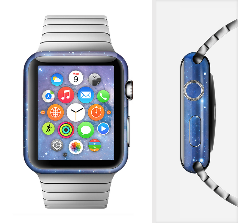 The Blue & Purple Mixed Universe Full-Body Skin Set for the Apple Watch