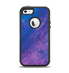 The Blue & Purple Pastel Apple iPhone 5-5s Otterbox Defender Case Skin Set