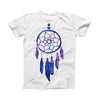 The Blue & Purple Watercolor Dreamcatcher ink-Fuzed Front Spot Graphic Unisex Soft-Fitted Tee Shirt