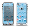 The Blue & Red Nautical Sailboat Pattern Apple iPhone 5-5s LifeProof Fre Case Skin Set