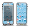 The Blue & Red Nautical Sailboat Pattern Apple iPhone 5-5s LifeProof Nuud Case Skin Set